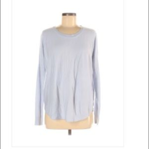 French Connection Pale Blue Scoop Neck Sweater